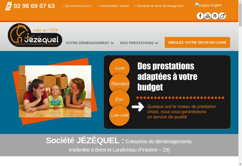 Capture d'écran du site de Box 29