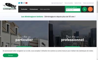 Site internet de Les Demenageurs Bretons
