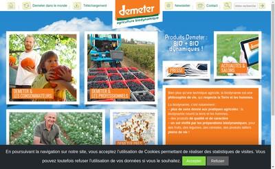 Site internet de Association Demeter France