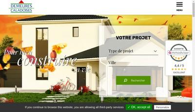 Site internet de Demeures Caladoises - Demeures Artisanales
