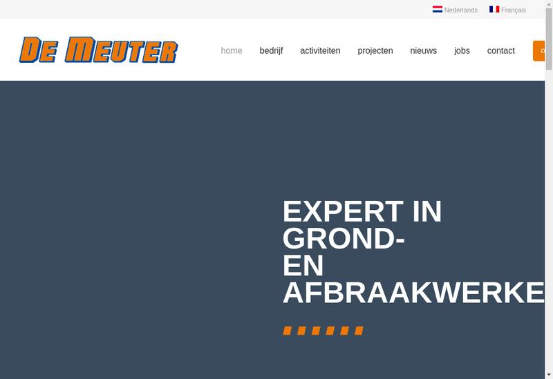 Capture d'écran du site de De Meuter