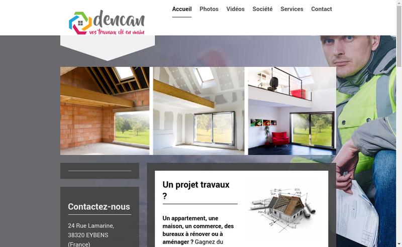 Capture d'écran du site de Dencan