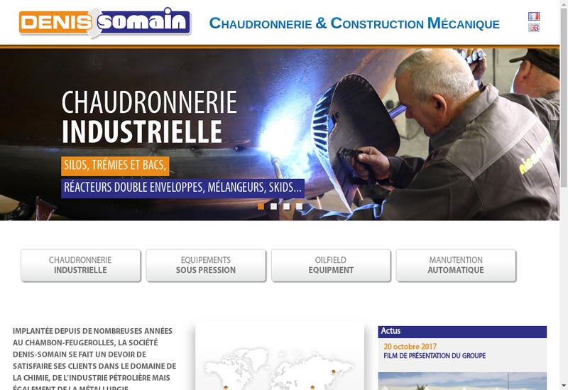 Capture d'écran du site de Denis-Somain