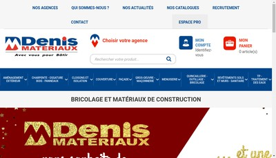 Site internet de Denis Materiaux