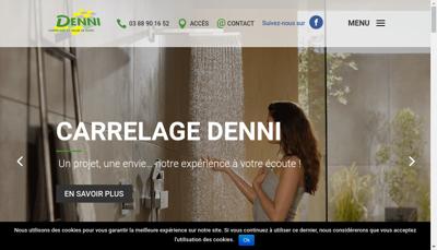 Capture d'écran du site de Carrelage Denni