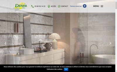 Site internet de Carrelage Denni