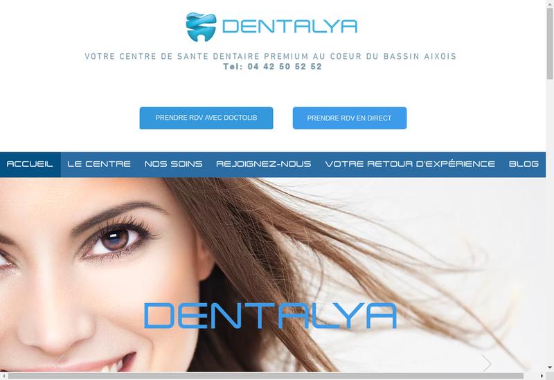 Capture d'écran du site de Dentalya