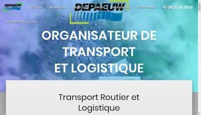 Site internet de Transports Depaeuw