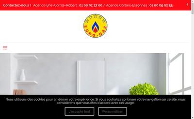 Site internet de Euro Gaz
