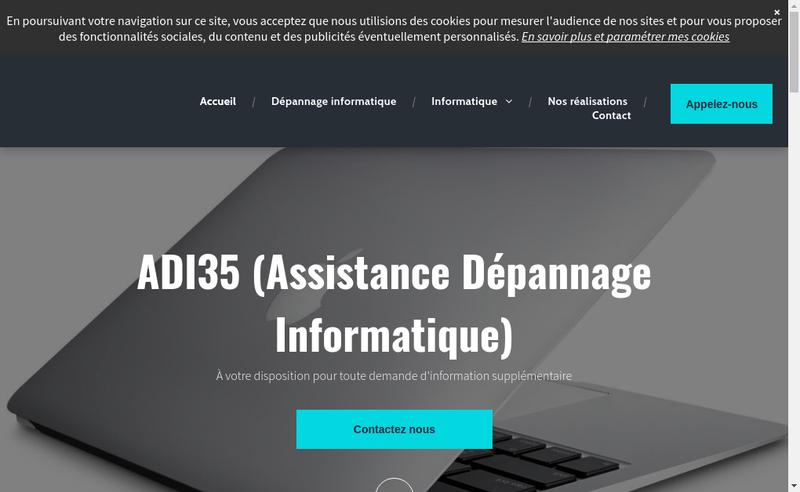 Capture d'écran du site de Assistance Depannage Informatique