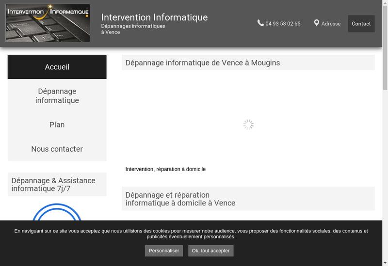 Capture d'écran du site de Franck Murat