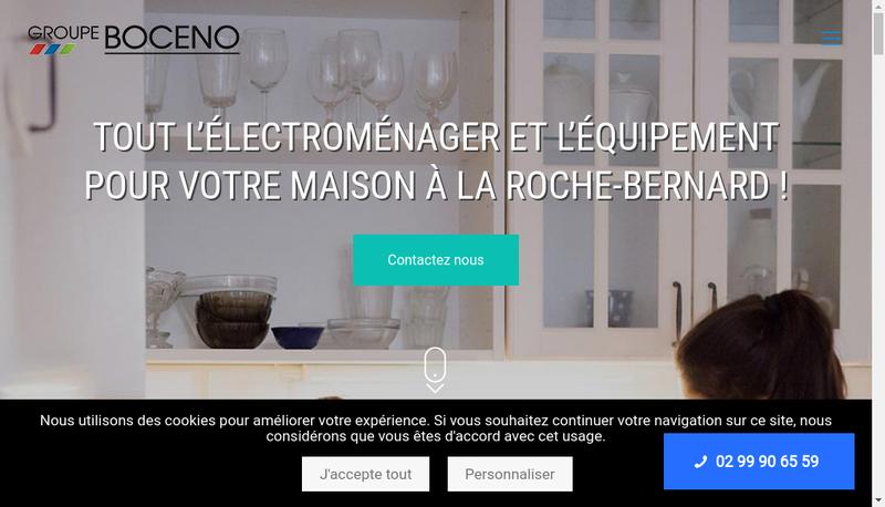 Capture d'écran du site de Groupe Boceno