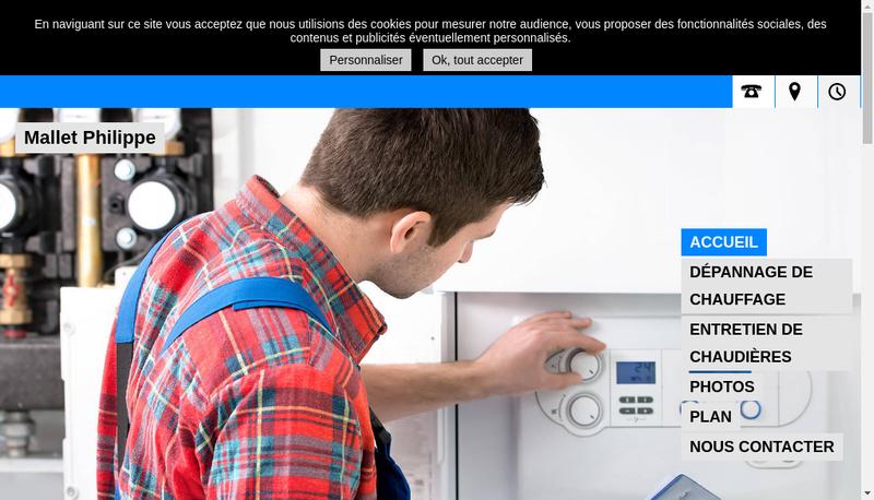 Capture d'écran du site de Mallet Philippe