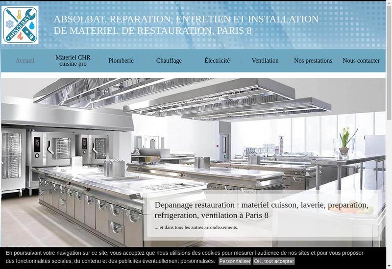 Capture d'écran du site de Absolbat