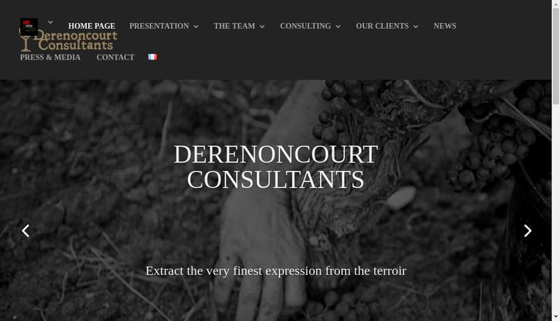 Capture d'écran du site de SARL Stephane Derenoncourt