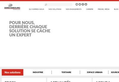 Capture d'écran du site de Derichebourg Multiservices