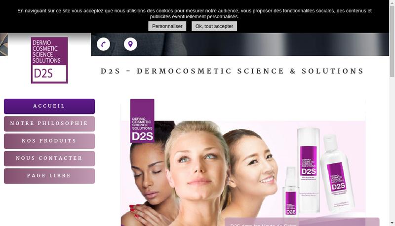 Capture d'écran du site de Dermocosmetic Science & Solutions International
