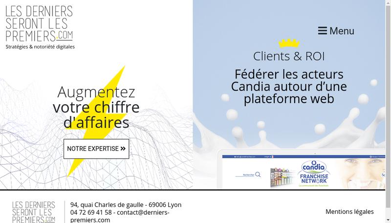 Capture d'écran du site de Les Derniers Seront les Premiers