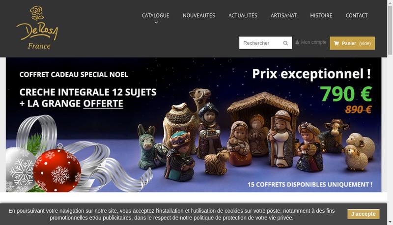 Capture d'écran du site de Clairso Diffusion