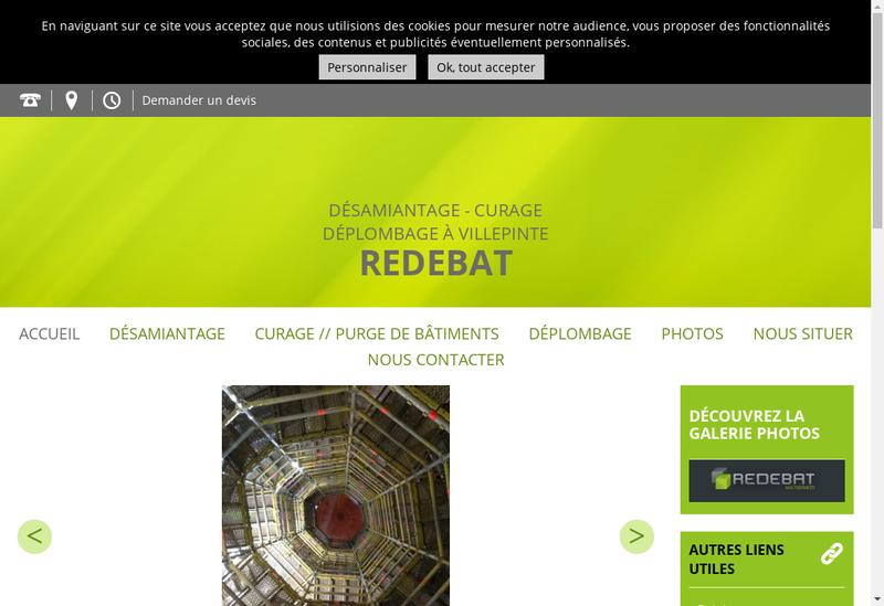 Capture d'écran du site de Redebat