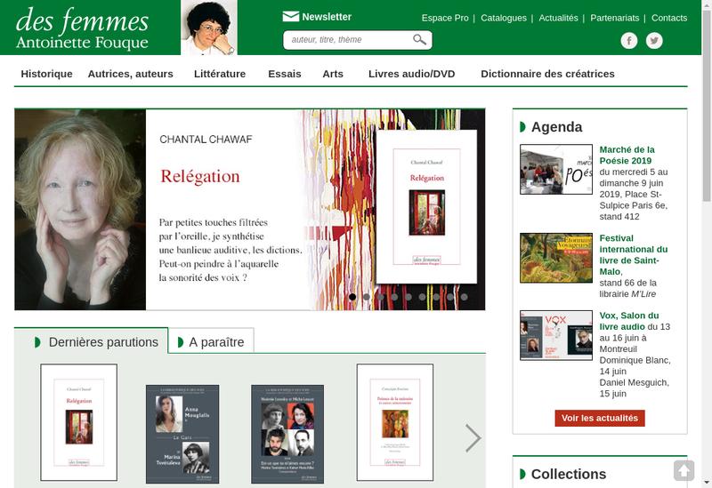 Capture d'écran du site de Societe des Femmes