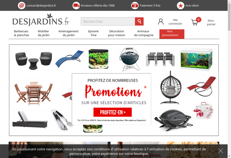 Capture d'écran du site de Desjardins Creation