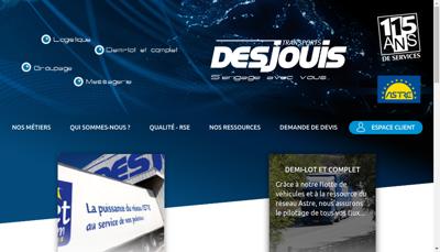 Capture d'écran du site de Transports Desjouis
