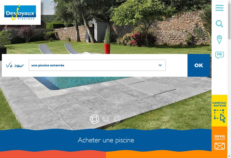 Capture d'écran du site de Desjoyaux Piscines 95