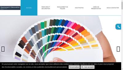 Capture d'écran du site de Desmarest C Decoration