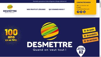 Site internet de SAS Etablissements Pierre Desmettre et Fils