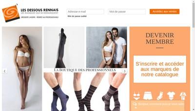 Site internet de Les Dessous Rennais