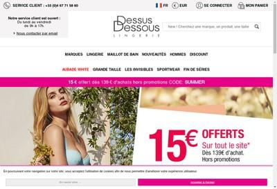Site internet de Dessus Dessous