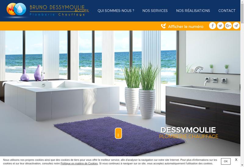 Capture d'écran du site de SASU Dessymoulie Plomberie Chauffage