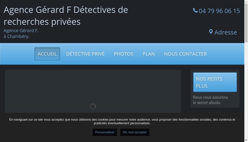 Capture d'écran du site de Agence Gerard