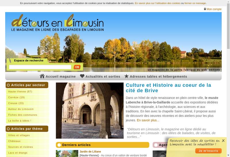 Capture d'écran du site de La Petite Fabrique du Web