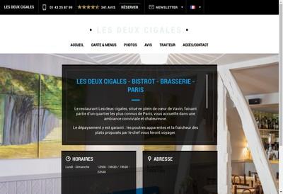 Site internet de Deux Cigales