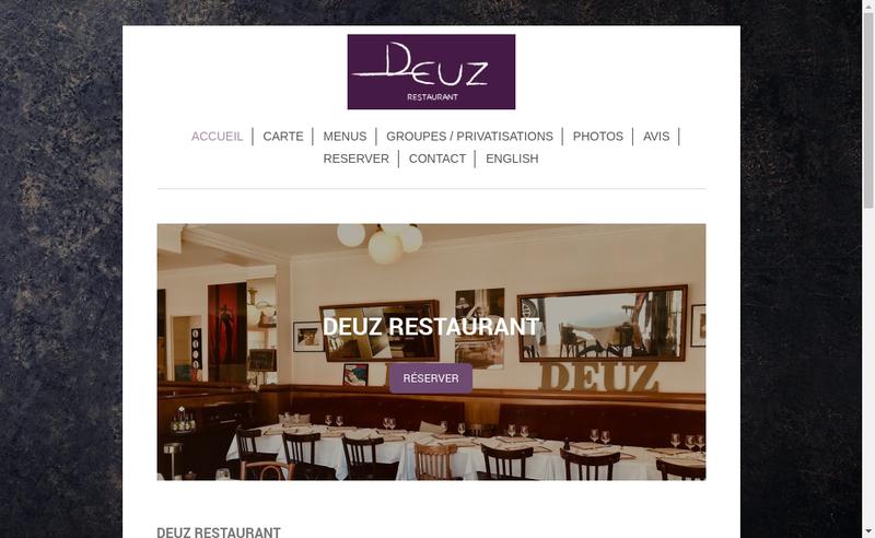 Capture d'écran du site de Deuz
