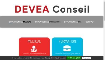 Site internet de SAS Devea Conseil