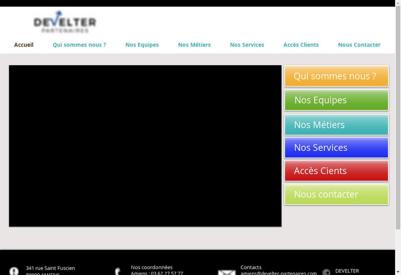 Capture d'écran du site de Develter Partenaires