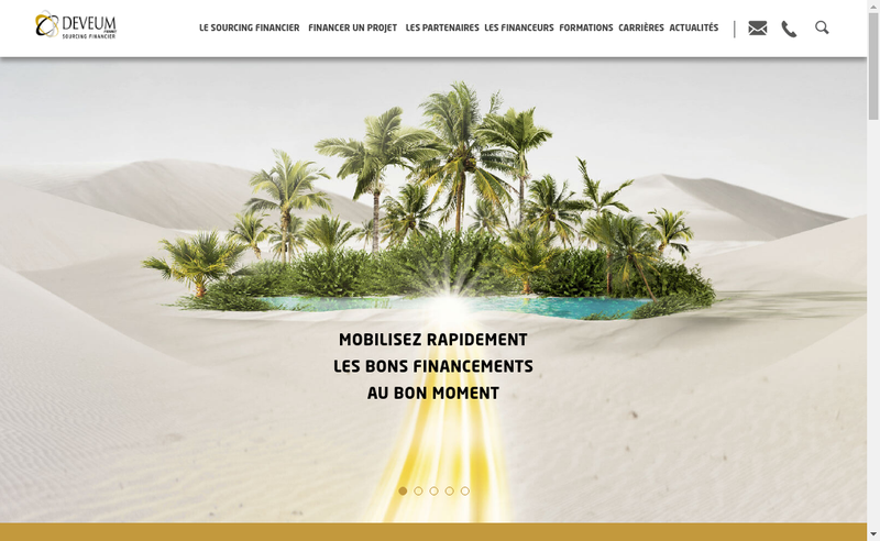 Capture d'écran du site de Deveum France