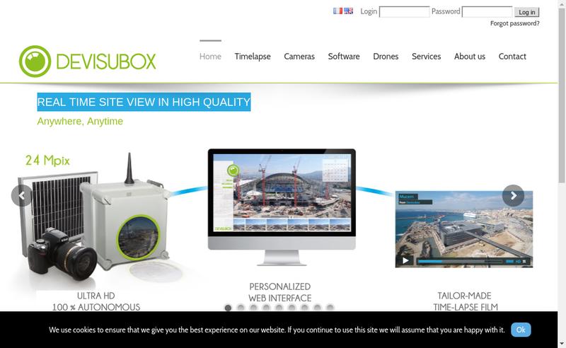 Capture d'écran du site de Devisubox