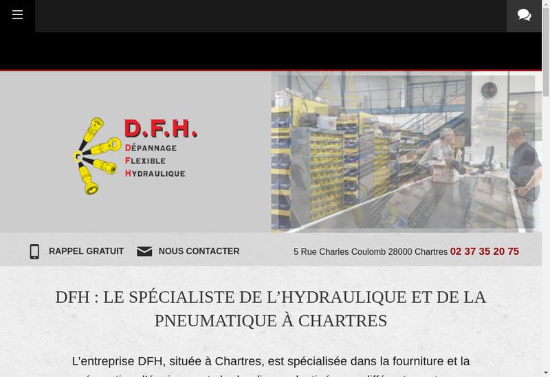 Capture d'écran du site de DFH Chartres