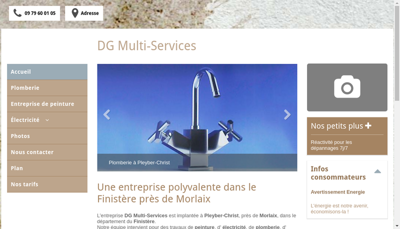 Capture d'écran du site de Servimedia