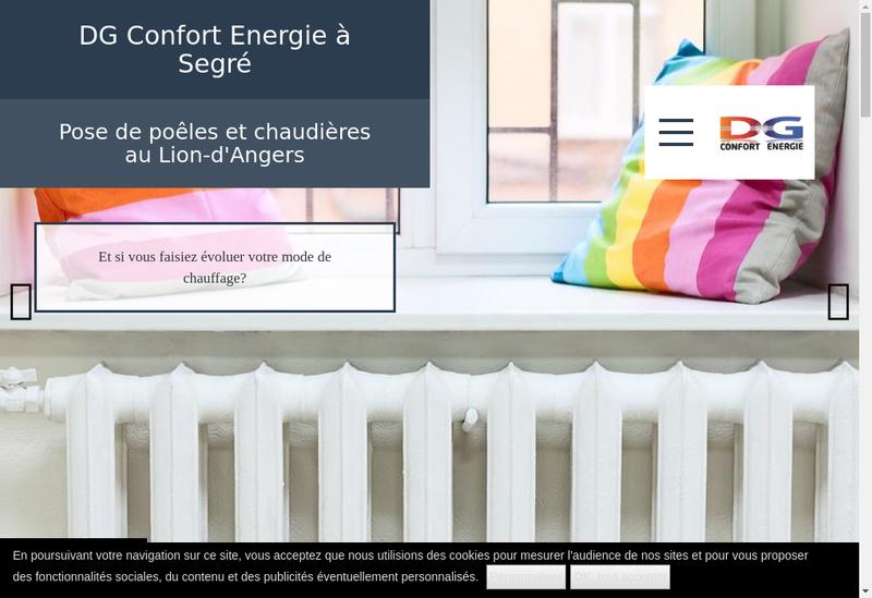Capture d'écran du site de Dg Confort Energie