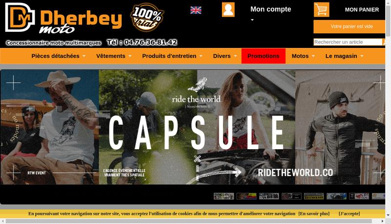 Capture d'écran du site de Dherbey Motos