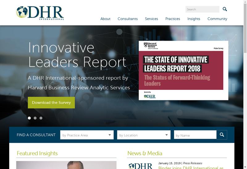 Capture d'écran du site de Dhr International France