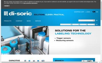 Site internet de Di-Soric SAS