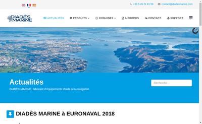 Site internet de Diades Marine SAS
