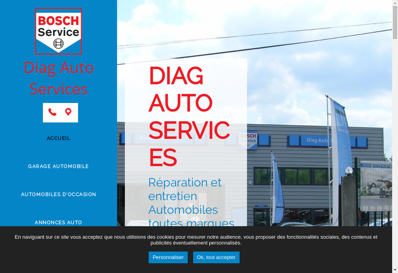 Capture d'écran du site de Diag Auto Service
