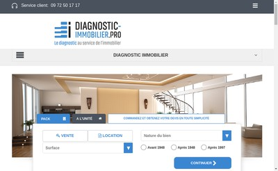 Site internet de Immo Diag Expertise